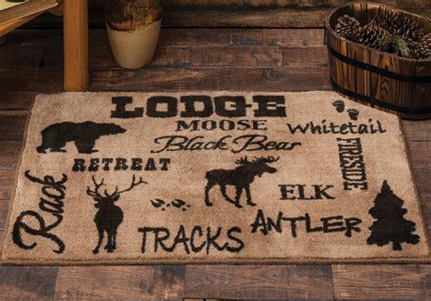 Bathroom Rugs Lodge Cabin Lodge Kitchen Bath Rug
