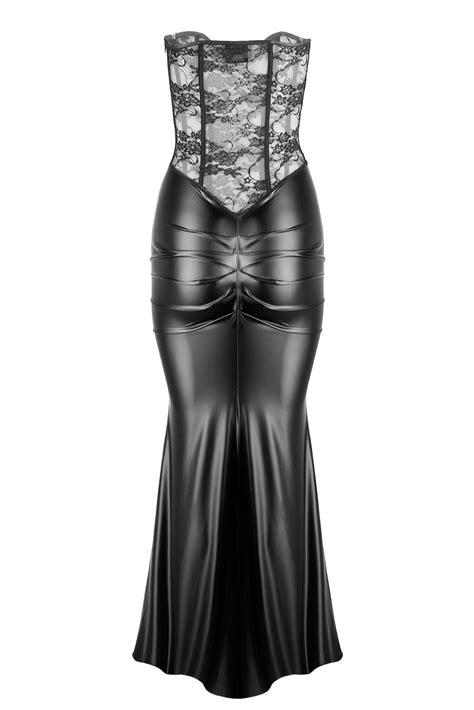 noir handmade goddess corset dress