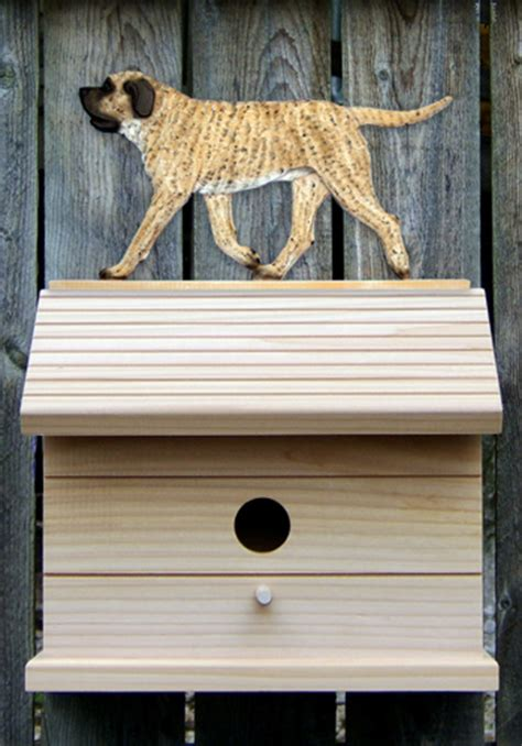 mastiff dog house mastiff hand painted dog bird house fawn brindle