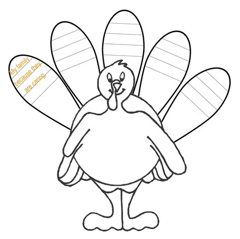 blank turkey template me genes easy ways to celebrate thanksgiving