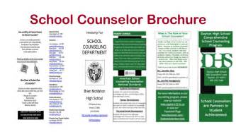 counseling brochure template for high school counselors school counselor tips for