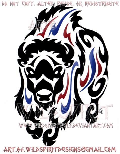 thundering bison tribal design by wildspiritwolf on deviantart