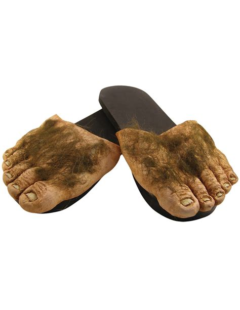 monster house shoes new big hairy feet slippers hobbit big foot houseshoe shire monster funny shoes ebay