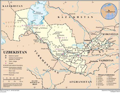 uzbekistan world map maps of uzbekistan map library maps of the world