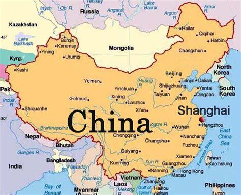 china world map shanghai china world map shanghai china on world map china