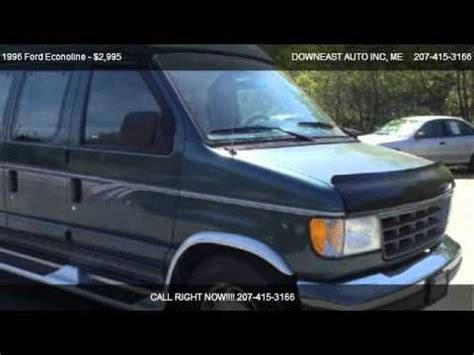 old car repair manuals 2001 ford econoline e150 parental controls 1996 ford econoline van manual