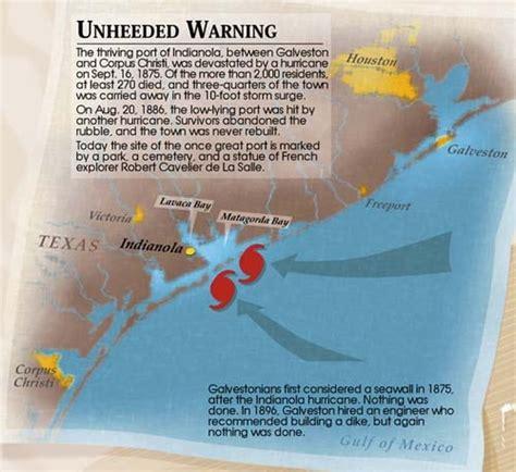 indianola texas map indianola hurricane of 1875