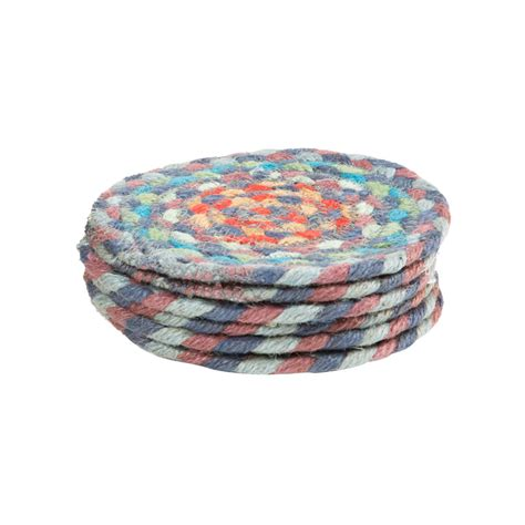 Braided Rug Coasters by Buy The Braided Rug Company Coasters Set Of 6 Carnival