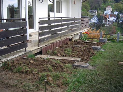 terrasse vorher nachher terrassenbau