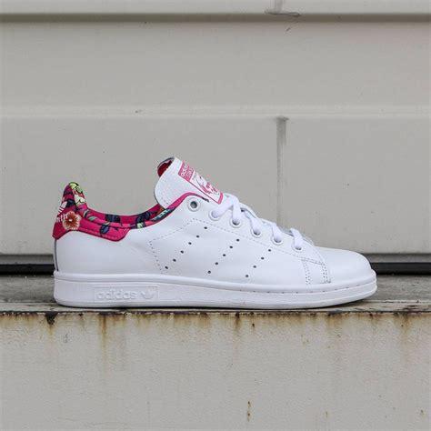 adidas women stan smith white footwear white ray pink