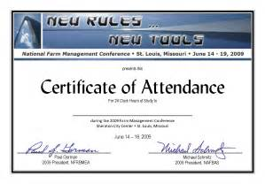 certificate of attendance new calendar template site