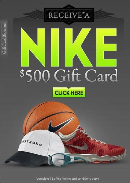 Can I Use Nike Gift Card At Nike Outlet - get a 500 nike gift card