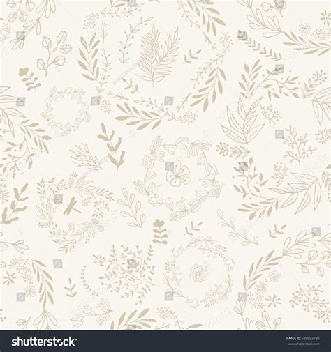 hand drawn wallpaper hand drawn wallpaper seamless pattern vintage stock vector