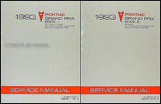 how to download repair manuals 1993 pontiac grand prix electronic throttle control 1993 pontiac grand prix repair shop manual original 2 volume set