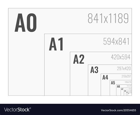 paper size  format series      vector image