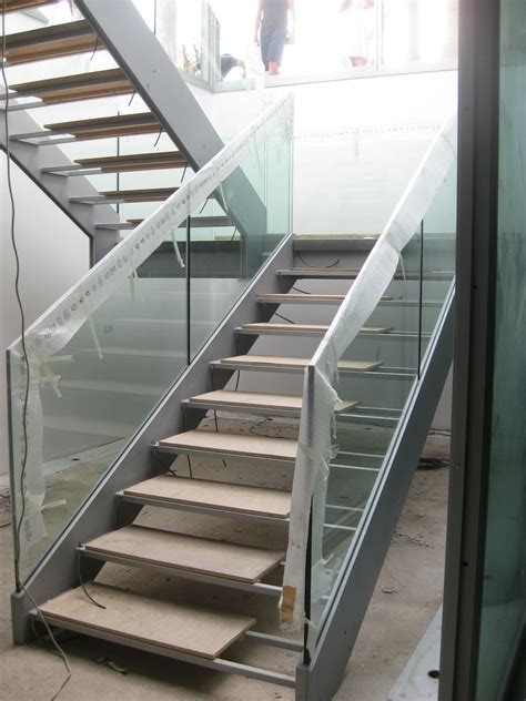 Open Staircase Ideas Amazing Two Levels Open Staircase With Remodelling Glass Banister Stairs As Decorate Modern Home