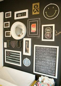 Re Thinking The Gallery Wall Diy Chalkboard Paint Ideas On Chalkboard Walls Chalkboard Paint And Chalkboards