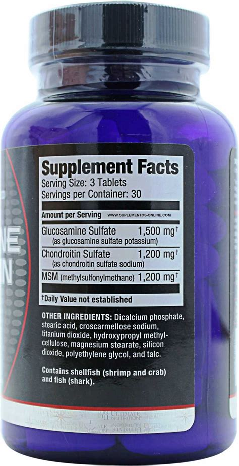Ultimate Nutrition Glucosamine Chondroitin 90 Tabs ultimate nutrition glucosamine chondroitin msm bodybuilding nutrition ftempo