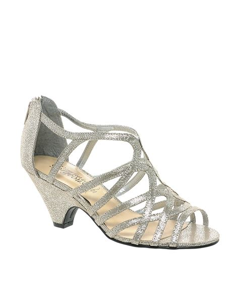 new look new look sun low silver wedge sandals at asos
