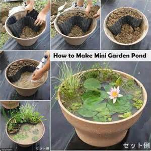 how to make a water garden in a container how to make mini garden pond diy amazing ideas