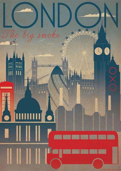 Poster Design London | london city art deco bauhaus poster print a3 a2 a1 vintage