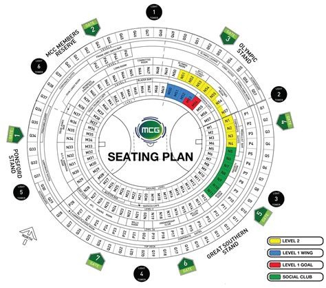 mcg floor plan seating maps geelong cats memberships