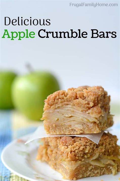 apple crumble best recipes delicious apple crumble bars recipe
