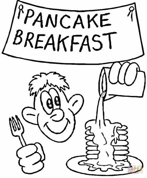 pancake breakfast coloring page free printable coloring