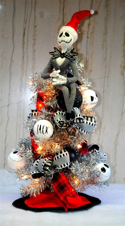nightmare before xmas tree ideas skellington nightmare before tree lighted with