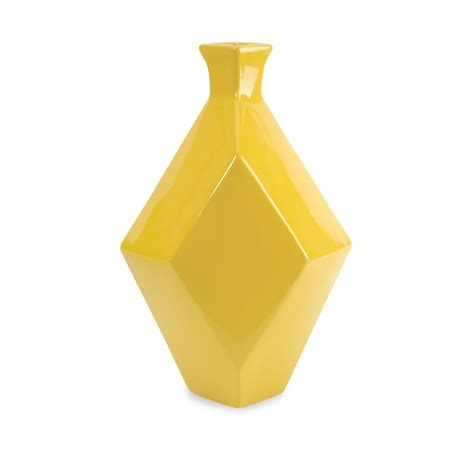 Yellow Floor Vase by Imax Corporation Chantal Large Yellow Ceramic Vase 30502