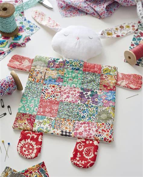 Patchwork Rabbit Pattern - liberty fabric patchwork bunny rabbit comforter baby