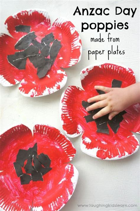 poppys funerals i soon got used to seeing dead bodies female anzac day poppy craft made from paper plates craft kids