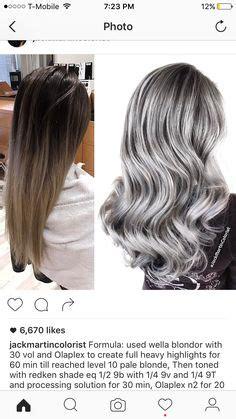 silver hair color formula silver shades eq formula by spencerhenryhair
