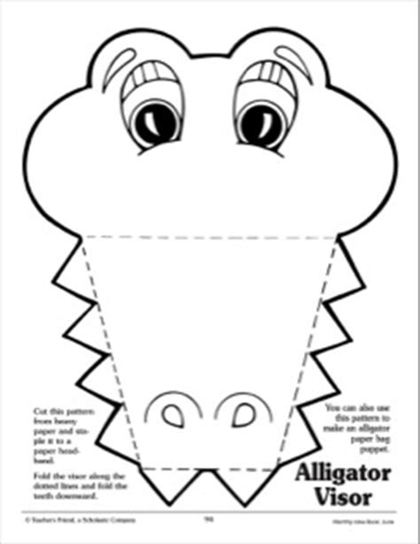 printable alligator mask alligator visor printables pinterest visors
