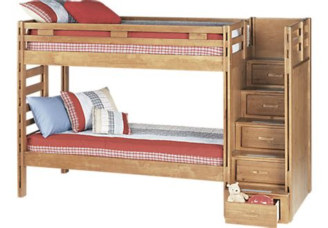creekside taffy 3 pc step bunk bed bunk beds