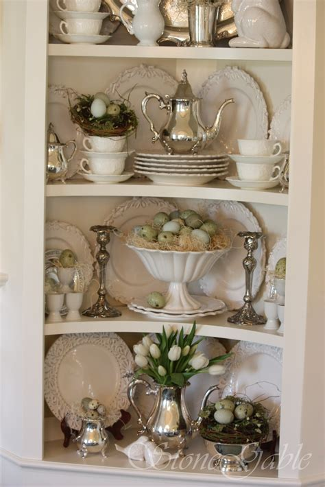 how to decorate a china cabinet stonegable spring cupboard