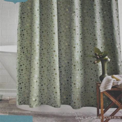 target home shower curtain target home green dot fabric shower curtain