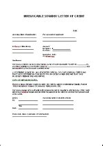 standby letter of credit template en