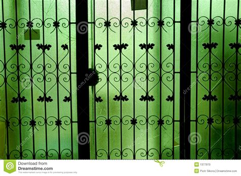 Green Glass Door by Green Glass Doors Stock Photo Image 1377970