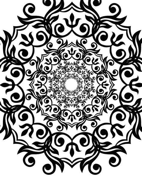 free artsy flower printable adult coloring page mama