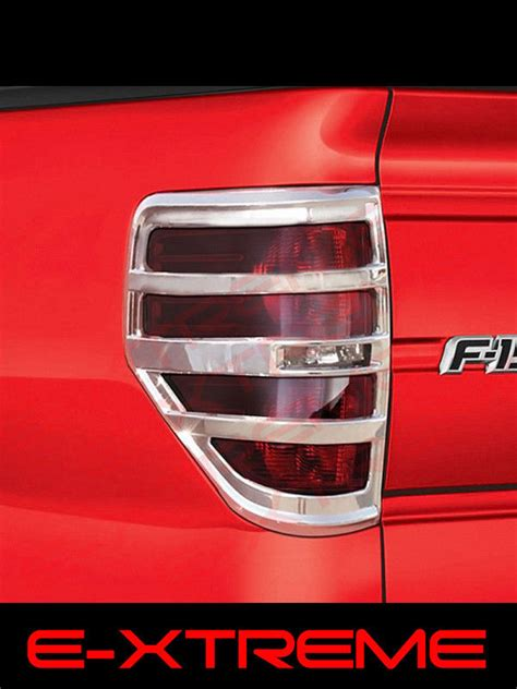 2014 ford f150 tail light cover ford f 150 f150 chrome tail lights covers bezel 2009 2010