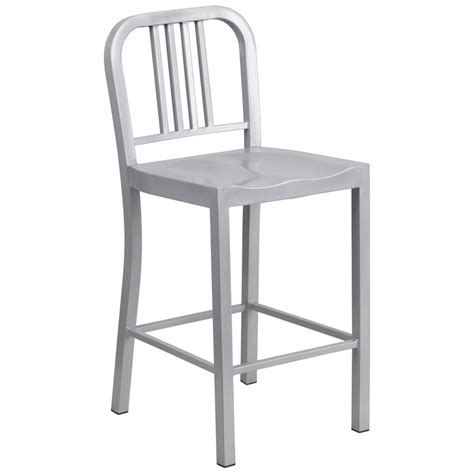 Modern Outdoor Counter Stools by Hartford Modern Silver Outdoor Counter Stool Eurway