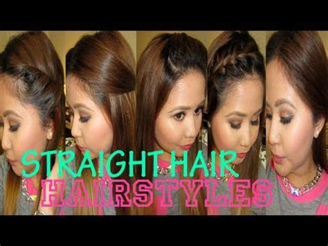5 quick hairstyles for straight hair! youtube