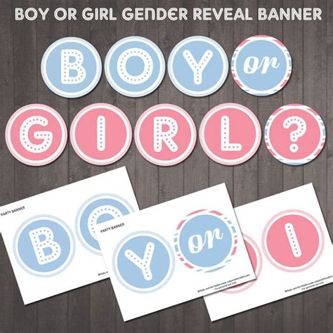 printable gender reveal banner 25 best images about printable party banners on pinterest