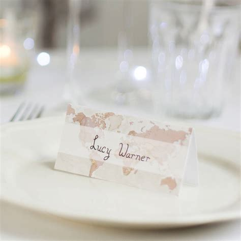 wedding table place cards antique map wedding place cards pack of ten by maps