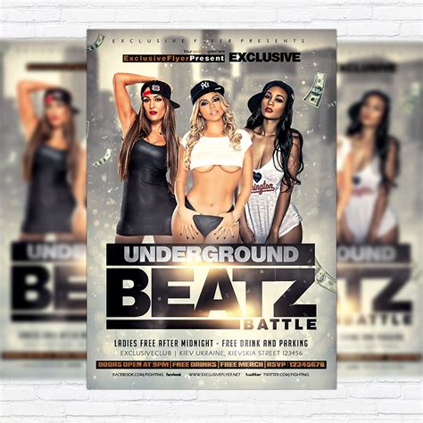Premium Flyer Templates underground beatz battle premium flyer template
