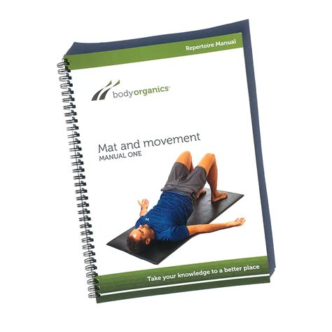 Movement Book A Mat mat and movement pilates manual organics