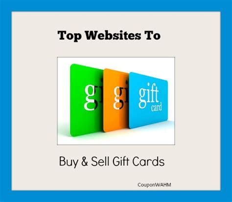Top Gift Card Sites - top websites to buy sell gift cards coupon wahm