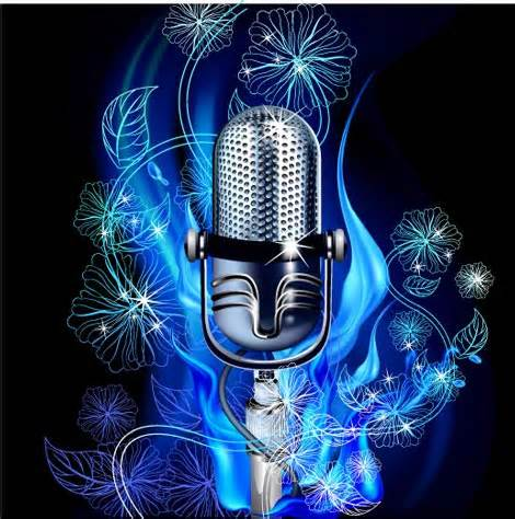 Star Net Curtains Clipart Music Microphone