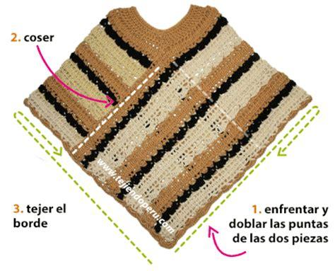 como tejer poncho con manga c 243 mo tejer un poncho de dos rect 225 ngulos a crochet